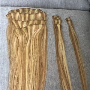 "18"" CLIP-IN HUMAN HAIR EXTENSIONS"